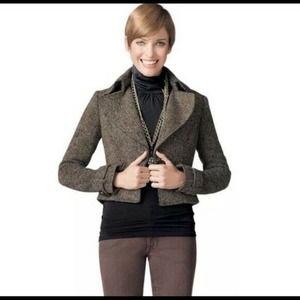 Cabi Cropped Tweed Moto Jacket